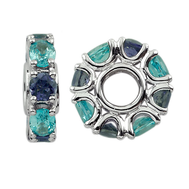 300957-Storywheels Swiss Blue Topaz & Iolite 14K White Gold Wheel ONLY 3 AVAILABLE!
