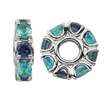 Storywheels Blue Topaz & Iolite 14K White Gold ONLY 1 AVAILABLE! 300957