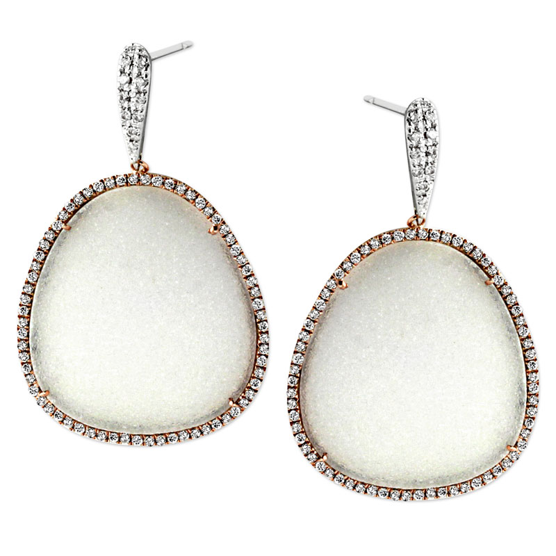 344778-Diamond and Drusy Earrings