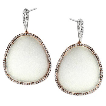 Diamond & Drusy Earrings-344778