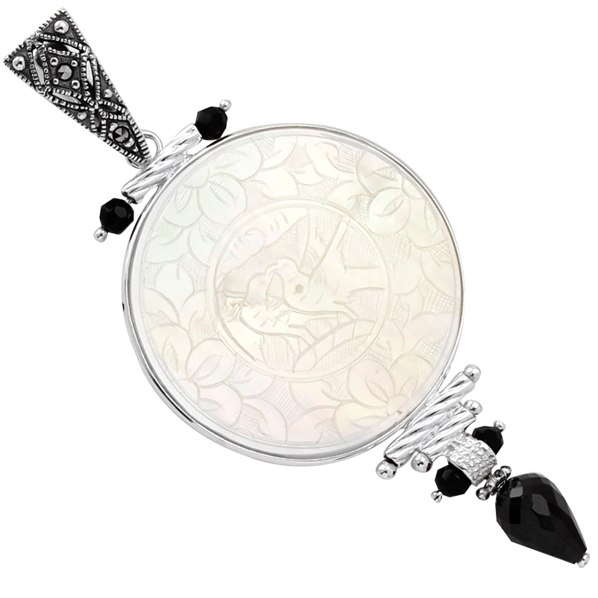 341790-Donna Chambers Round Gambling Chip Pendant