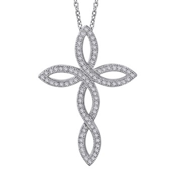 Open Cross Necklace-341025