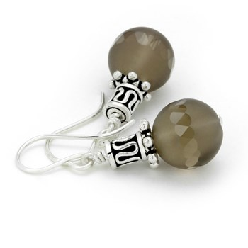 Smokey Quartz Earrings-210-780