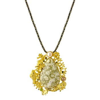 Pendant & Pyrite Necklace-235-703