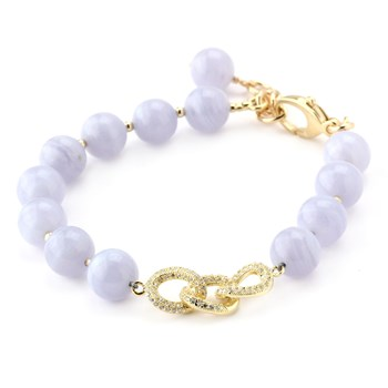 345899-Lollies Blue Lace Agate Chainlink Bracelet