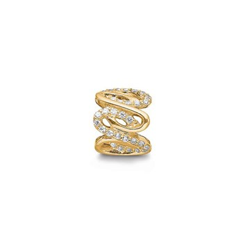 STORY by Kranz & Ziegler Gold-Plated Wavy Ring Spacer
