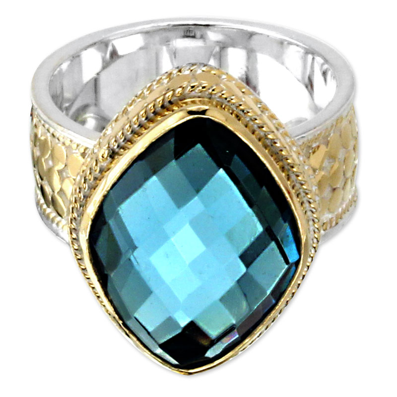 345285-Anna Beck Wire Rimmed Blue Quartz Ring
