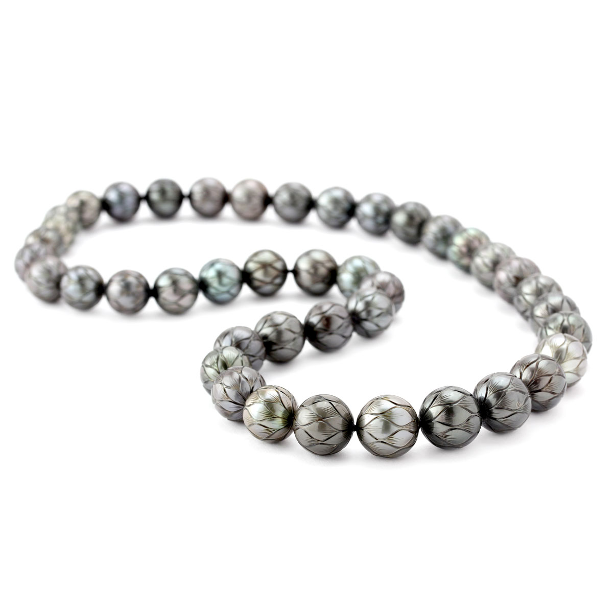 343723-Galatea Carved Black Pearl Necklace