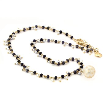 Pearl & Sapphire Necklace-347610