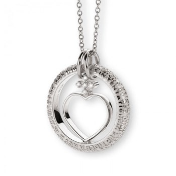 Our Father Sterling Silver & Diamond Necklace