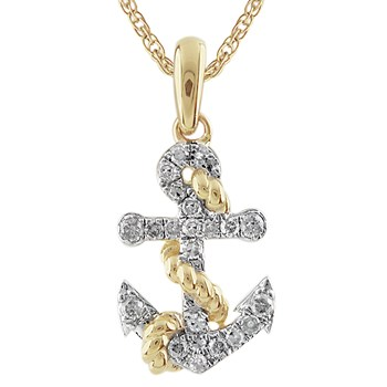 Diamond Anchor Pendant-341561