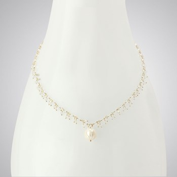 Quartz & Carved Pearl Necklace-348547