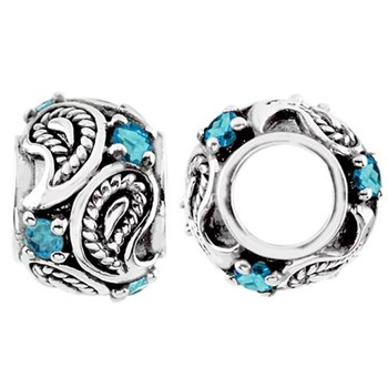 Storywheels Swiss Blue Topaz Paisley Sterling Silver Wheel-333844