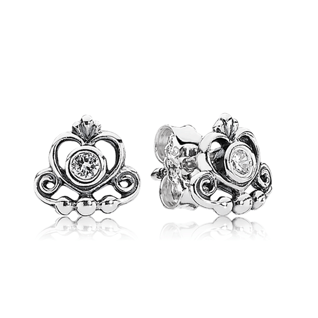342982-PANDORA My Princess with Clear Cz Stud Earrings
