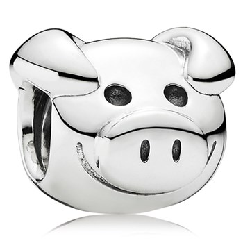 PANDORA Playful Pig Charm RETIRED