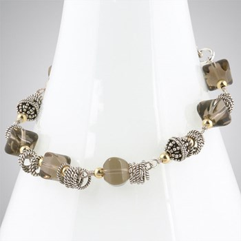 Smokey Quartz & Sterling Silver Bracelet-275262