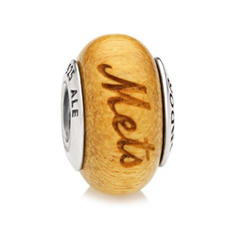 PANDORA New York Mets Baseball Wood Charm RETIRED LIMITED QUANTITIES!-345562