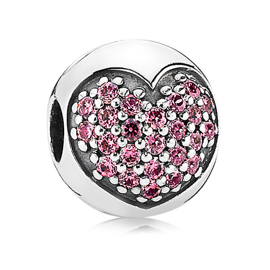 342893-PANDORA Love of My Life Heart with Fancy Pink CZ Clip