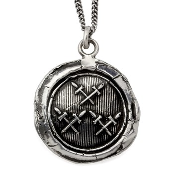 605-01176-Crossed Daggers Talisman Necklace