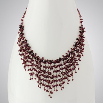 348523-Garnet & Onyx Necklace