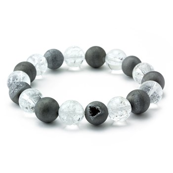 Quartz & Drusy Stretch Bracelet-655-3310