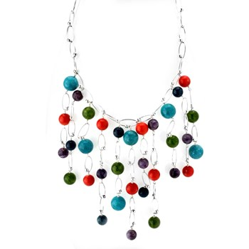 Multi-Stone Bibb Necklace-346354