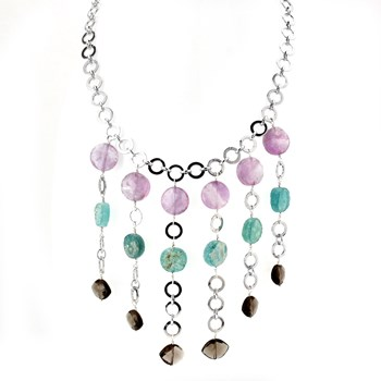 346363-Roman Glass & Amethyst Necklace