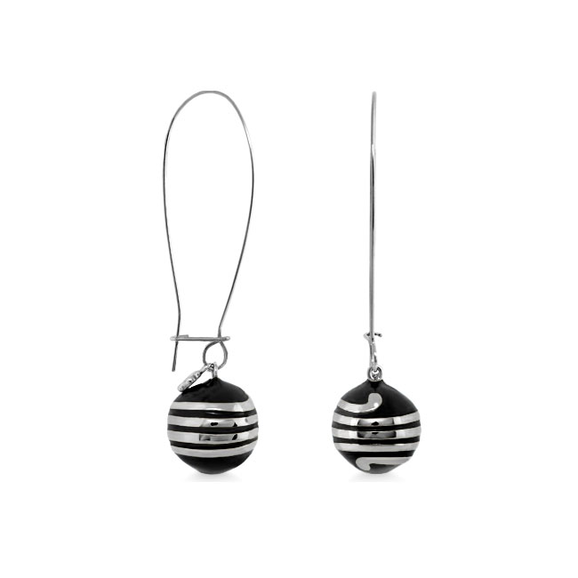 342482-Black 'Dazzling Drops 'Earrings
