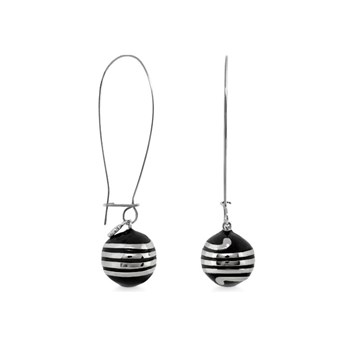 Black 'Dazzling Drops 'Earrings-342482