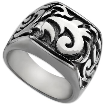 -Edward Mirell Men's Pallas Titanium Ring