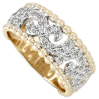 Swirl Diamond Ring-344526