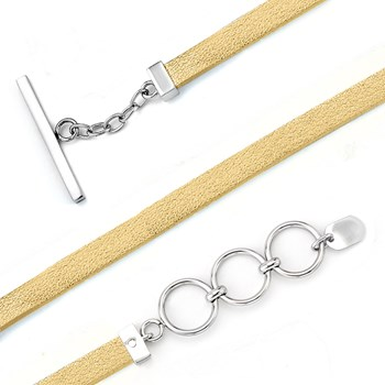 343208-Lori Bonn Good As Gold Leather Bracelet