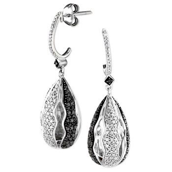 343298-70% OFF Black & White Diamond Earrings