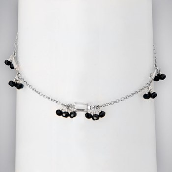 Black Diamond CZ & Clear CZ Anklet-334865