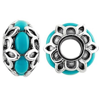 Storywheels Turquoise Sterling Silver Wheel-333691