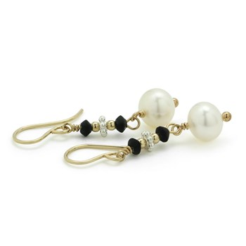Pearl & Serpentine Earrings-210-778
