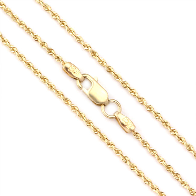 343726-14K Yellow Gold 20'' Solid Rope Chain