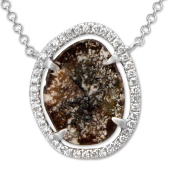 Raw Diamond Necklace-334978