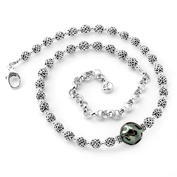 Black Tahitian Pearl Necklace-349308