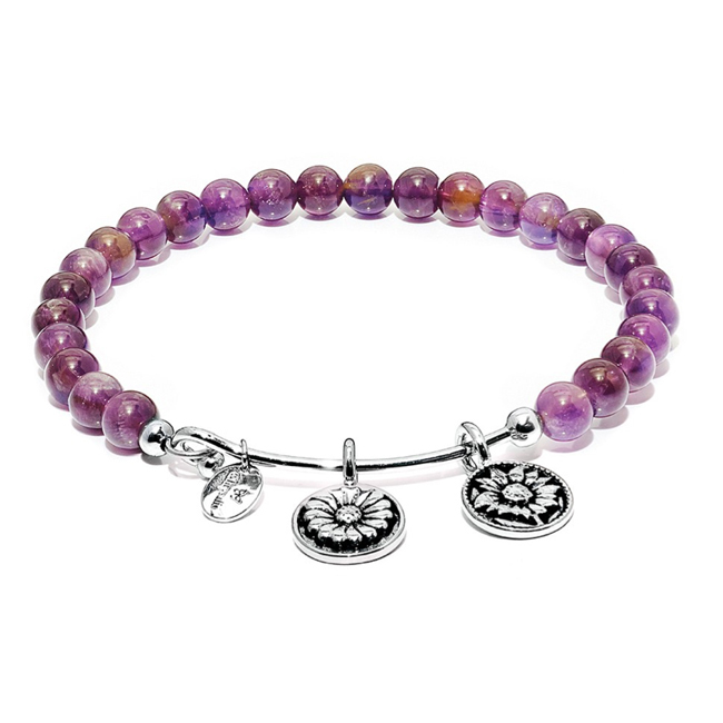 345074-Amethyst BELIEVE Bangle - Chrysalis Guardian Collection