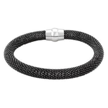 Sterling Silver Black Bangle-343263