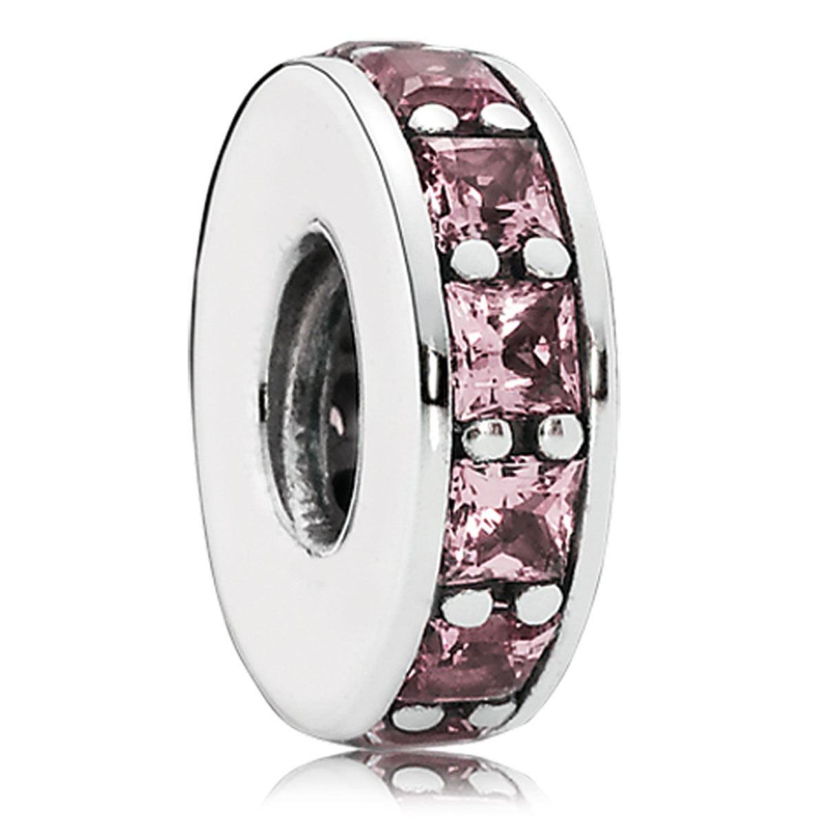 802-3072-PANDORA Eternity with Blush Pink Crystal Spacer