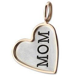 Mom Heart Charm with Border-347337
