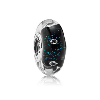 348155-PANDORA Midnight Effervescence with Clear CZ Murano Glass