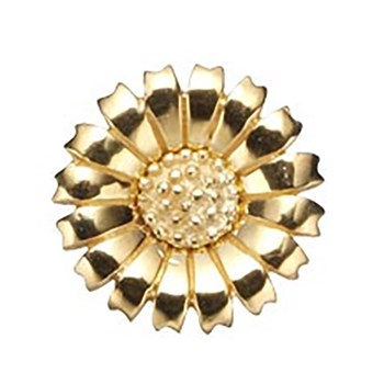 STORY by Kranz & Ziegler Gold Plated Daisy 15mm Button