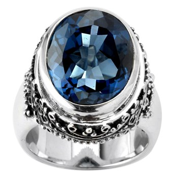London Blue Topaz Ring-345640