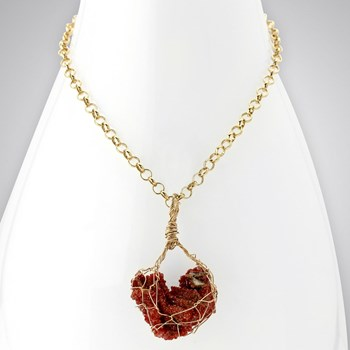 342161-Vanadinite Crystal & Chain