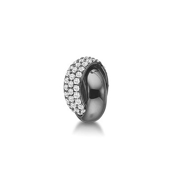 STORY by Kranz & Ziegler Black Rhodium Roller Ring Button