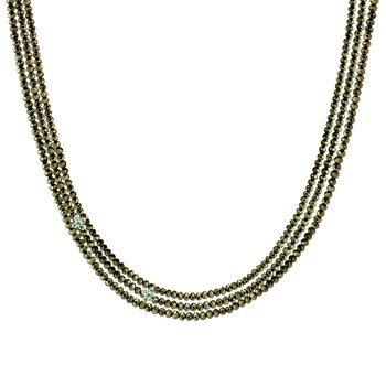 Triple Pyrite Necklace-235-705