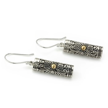 Abstract Cylinder Earrings-645-3190